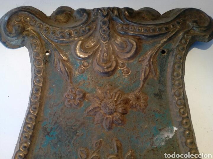 Recambios de relojes: Parte frontal de péndulo reloj Morez siglo XIX - Foto 4 - 66192017