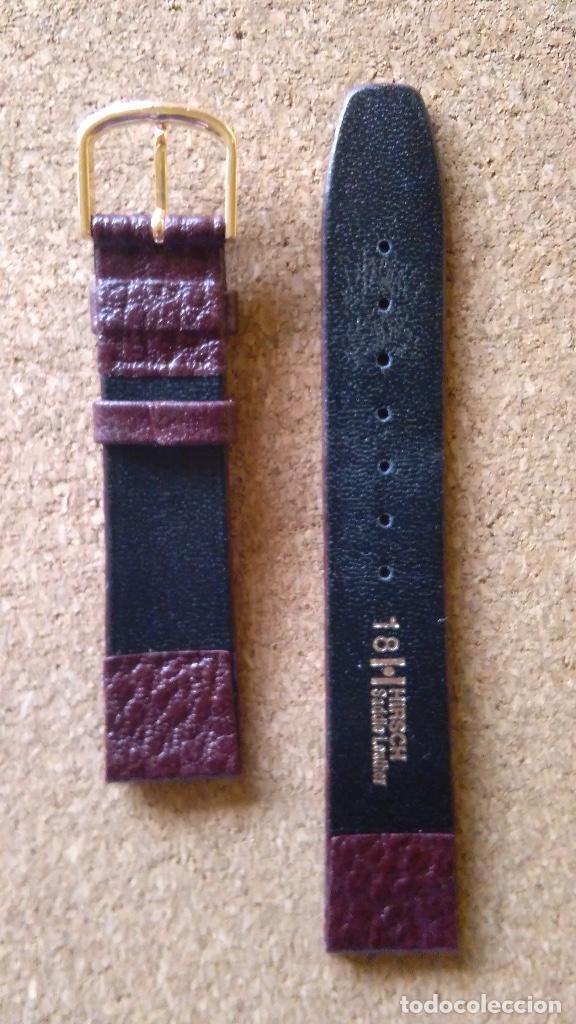 Recambios de relojes: Correa de cuero reloj calidad marca HIRSCH 18 mm modelo Saddle Color Rojo Oscuro - Foto 2 - 69624705