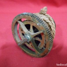 Recambios de relojes: ANTIGUO BARRILETE DE CUERDA PARA RELOJ TIPO MOREZ. Lote 69685749