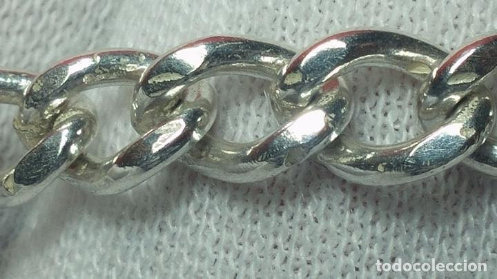 Recambios de relojes: Hermosa y bella leontina o cadena de plata para reloj de bolsillo antiguo, sobre 34 cms. - Foto 17 - 69799717