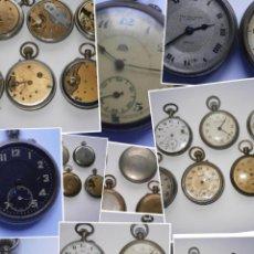 Recambios de relojes: LOTE DE 7 RELOJES ANTIGUOS DE BOLSILLO . Lote 72487983