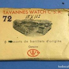 Recambios de relojes: 2 RESSORTS DE BARILLETS TAVANNES WATCH NUEVOS- VER FOTOS. Lote 73102067