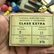 Recambios de relojes: MUELLE PARA ANCORAS Y CILINDROS CLASE EXTRA - VER FOTOS. Lote 73114571