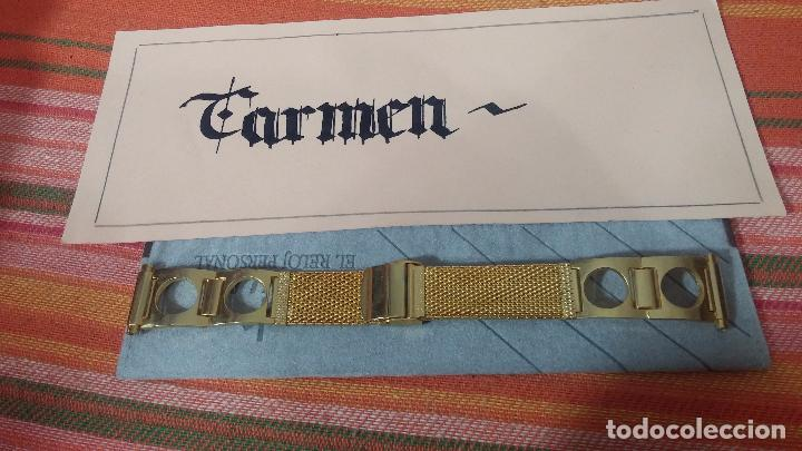 Recambios de relojes: Botito armis dorado estilo drivers, va desde 20mm a 15, stok de relojería antigua bien conservado - Foto 2 - 82138956