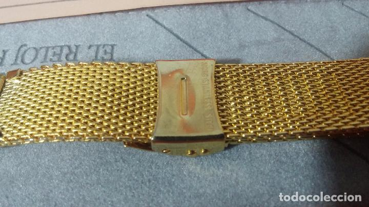 Recambios de relojes: Botito armis dorado estilo drivers, va desde 20mm a 15, stok de relojería antigua bien conservado - Foto 13 - 82138956