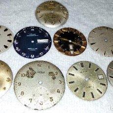 Recambios de relojes: LOTE ESFERAS RELOJ ANTIGUOS . VER FOTOS,. Lote 84239728