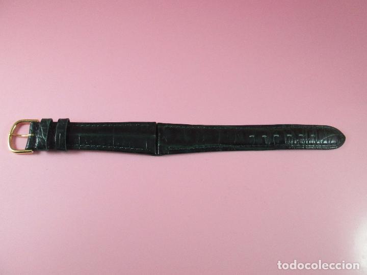 Recambios de relojes: *(3B)*-correa reloj-cuero genuino-acabado rugoso/piel verde-20 mm-nos-ver fotos. - Foto 3 - 85788824