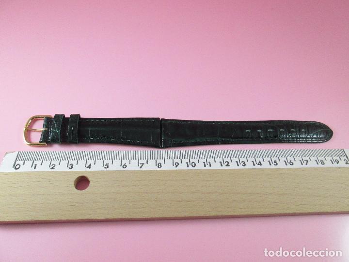Recambios de relojes: *(3B)*-correa reloj-cuero genuino-acabado rugoso/piel verde-20 mm-nos-ver fotos. - Foto 4 - 85788824