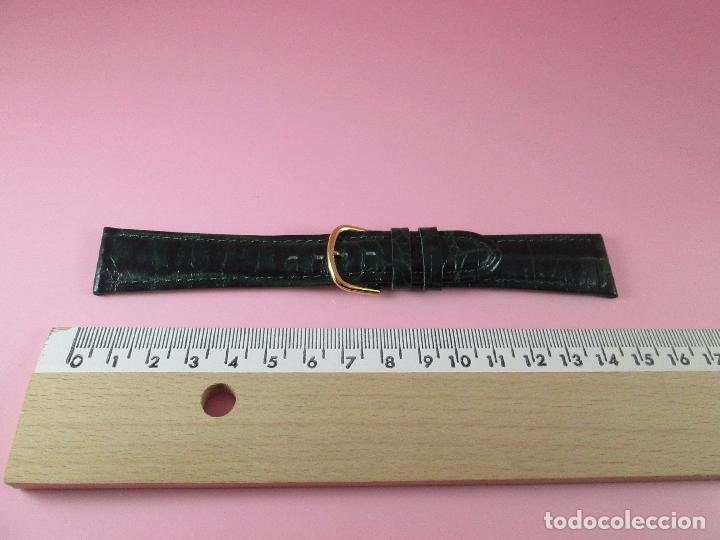 Recambios de relojes: *(3B)*-correa reloj-cuero genuino-acabado rugoso/piel verde-20 mm-nos-ver fotos. - Foto 5 - 85788824