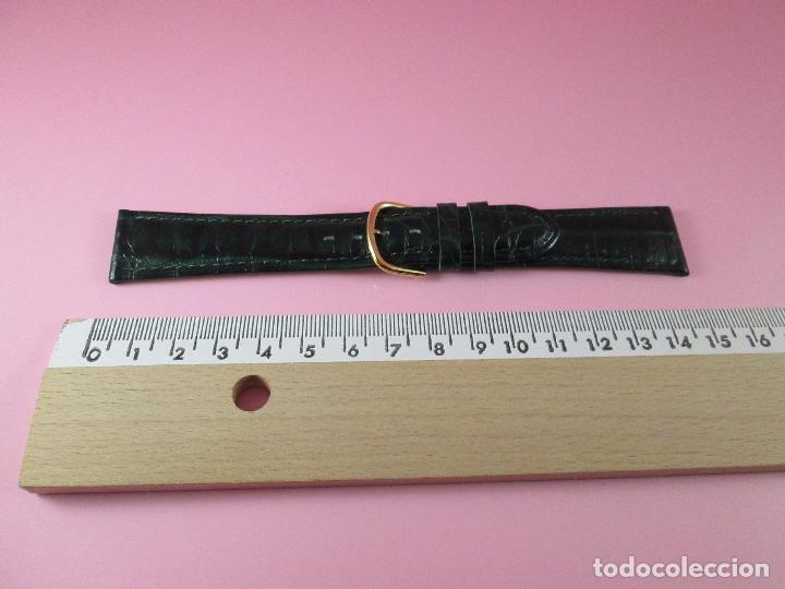 Recambios de relojes: *(3B)*-correa reloj-cuero genuino-acabado rugoso/piel verde-20 mm-nos-ver fotos. - Foto 7 - 85788824