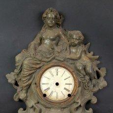 Recambios de relojes: FRONTAL DE RELOJ EN CALAMINA. MOTIVOS CLÁSICOS. SIGLO XIX-XX.. Lote 86828192