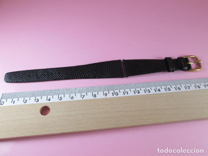 Recambios de relojes: 7551·/correa reloj-piel de lagarto-negra-20 mm-nos-ver fotos. - Foto 2 - 87553400