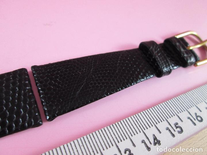Recambios de relojes: 7551·/correa reloj-piel de lagarto-negra-20 mm-nos-ver fotos. - Foto 4 - 87553400