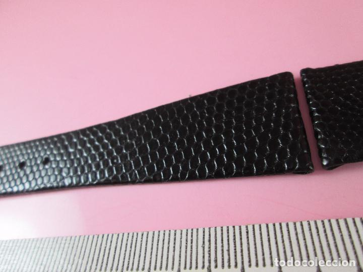 Recambios de relojes: 7551·/correa reloj-piel de lagarto-negra-20 mm-nos-ver fotos. - Foto 5 - 87553400