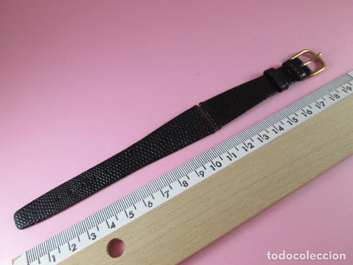 Recambios de relojes: 7551·/correa reloj-piel de lagarto-negra-20 mm-nos-ver fotos. - Foto 6 - 87553400