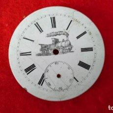 Recambios de relojes: ANTIGUA ESFERA DE RELOJ DE BOLSILLO DE PORCELANA ESMALTADA.. Lote 87580648