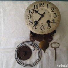 Recambios de relojes: ANTIGUA MAQUINARIA JAPY FRERES PARA RELOJ OJO BUEY DE ESCUELA AÑO 1900-20- FUNCIONAL. Lote 88965240