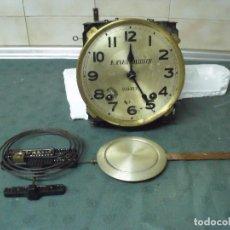Recambios de relojes: ANTIGUA MAQUINARIA MOREZ DE RELOJ REGULADOR - AÑO 1920- COMPLETA Y FUNCIONAL - LOTE 47. Lote 89015260