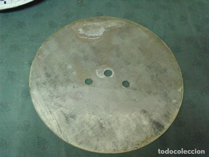 Recambios de relojes: antigua esfera de CHAPA para Ojo buey -- - año 1880- nº 7 - Foto 2 - 89301496