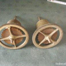 Recambios de relojes: 2 ANTIGUOS TAMBORES PARA RELOJ MOREZ DE PESAS- AÑO 1860-70- Nº 4 LOTE 54. Lote 90540035