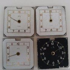 Recambios de relojes: LOTE DE 4 ESFERAS ANTIGUAS KOHLER. . Lote 102799982
