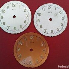 Recambios de relojes: LOTE DE TRES ESFERAS BEKER.. Lote 102800031