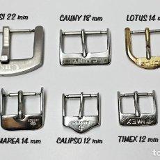 Recambios de relojes: LOTE DE 6 HEBILLAS DE RELOJES DE 4 MEDIDAS DE MARCAS.. Lote 92915720