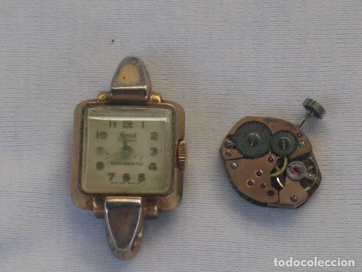 Recambios de relojes: Lote de 5 relojes antiguos Suizos para restaurar o piezas - Foto 8 - 93289795