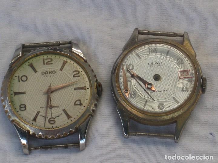 Recambios de relojes: Lote de 5 relojes antiguos Suizos para restaurar o piezas - Foto 9 - 93289795