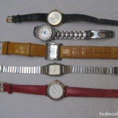 Recambios de relojes: LOTE DE 5 RELOJES PARA RESTAURAR O PIEZAS. Lote 93290435