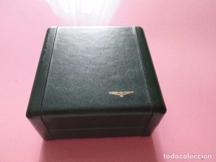 Recambios de relojes: caja-reloj-longines-verde-muy pesada-almohadilla longines con algo desgaste-buen estado - Foto 2 - 115687774