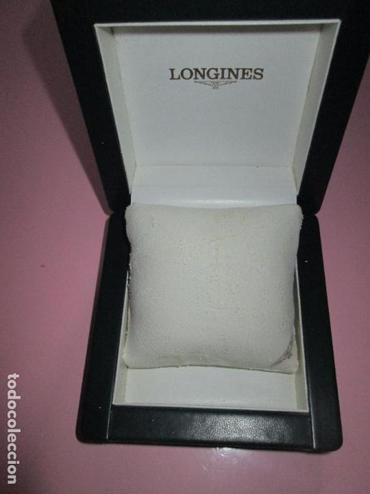 Recambios de relojes: caja-reloj-longines-verde-muy pesada-almohadilla longines con algo desgaste-buen estado - Foto 5 - 115687774