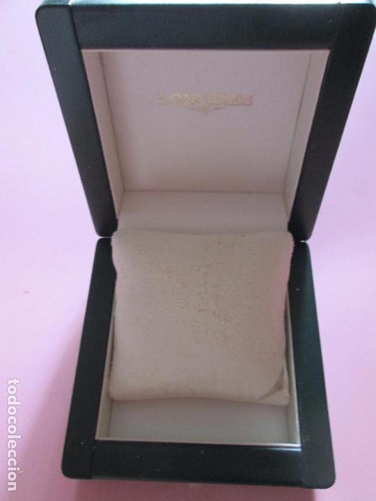 Recambios de relojes: caja-reloj-longines-verde-muy pesada-almohadilla longines con algo desgaste-buen estado - Foto 6 - 115687774