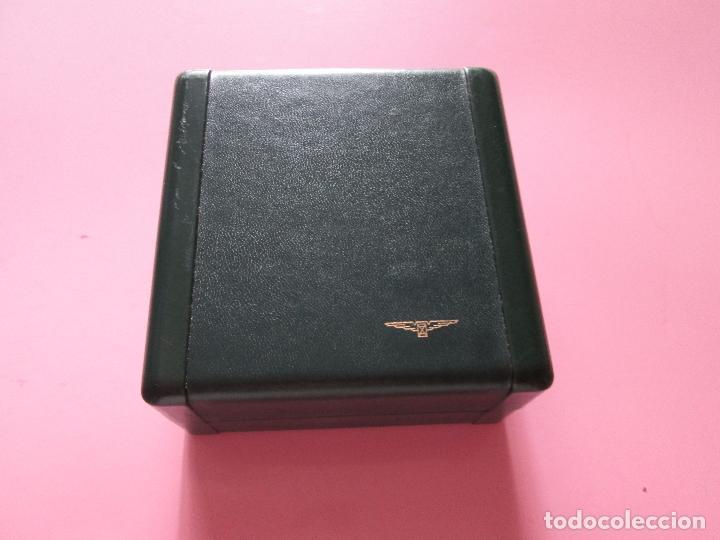 Recambios de relojes: caja-reloj-longines-verde-muy pesada-almohadilla longines con algo desgaste-buen estado - Foto 9 - 115687774