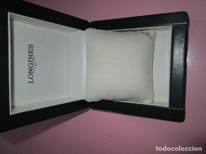 Recambios de relojes: caja-reloj-longines-verde-muy pesada-almohadilla longines con algo desgaste-buen estado - Foto 13 - 115687774