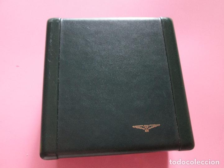 Recambios de relojes: caja-reloj-longines-verde-muy pesada-almohadilla longines con algo desgaste-buen estado - Foto 14 - 115687774