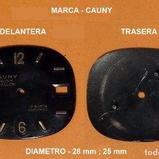 Recambios de relojes: DIAL RELOJ CAUNY APOLLON - DIAMETRO 28 X 25 MM. Lote 94537326