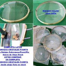 Recambios de relojes: COMPLETA LATÓN CONVEXO CRISTALES PUERTAS CON BISAGRA PARA RELOJES SOBREMESA/PARED/PIE A. Lote 96086075