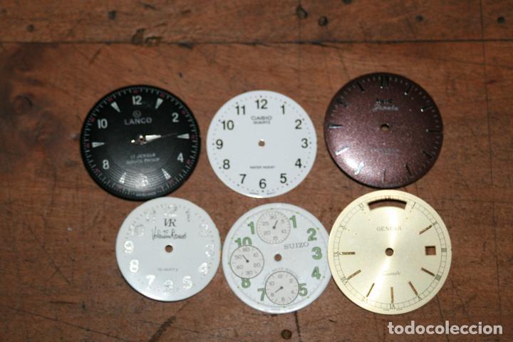 CINCO ESFERAS RELOJ DIFERENTES MARCAS Y TAMAÑOS 2,5 2,6 2,9 SEGUN FOTOS (Relojes - Recambios)