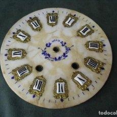 Recambios de relojes: PRECIOSA Y ORIGINAL ESFERA PARA OJO BUEY MOREZ EN ALABASTRO- AÑO 1880- LOTE 62. Lote 97577063