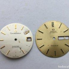 Recambios de relojes: ESFERAS OMEGA CONSTELLATION Y GENEVE. Lote 98516863