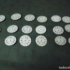 Recambios de relojes: 17 ESFERAS ANTIGUAS PARA RELOJ BOLSILLO PORCELANA EN MUY BUEN ESTADO- LOTE 68. Lote 99395383