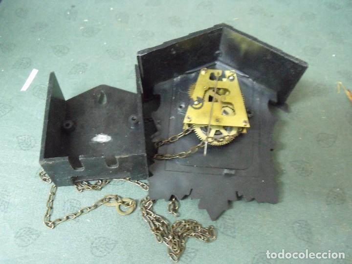Recambios de relojes: antiguo reloj Selva Negra de Alemania- RESTAURAR O PIEZAS - LOTE 70 - Foto 4 - 100173387