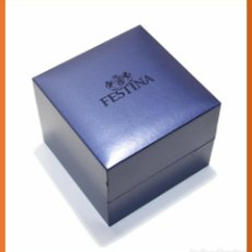 Recambios de relojes: CAJA ESTUCHE RELOJ FESTINA AZUL - CAJA VACIA. Lote 54084263