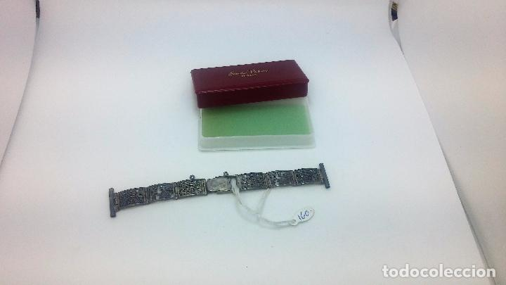 Recambios de relojes: Antigua correa o armis de plata maciza para reloj de pulsera - Foto 2 - 101950387
