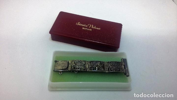 Recambios de relojes: Antigua correa o armis de plata maciza para reloj de pulsera - Foto 4 - 101950387