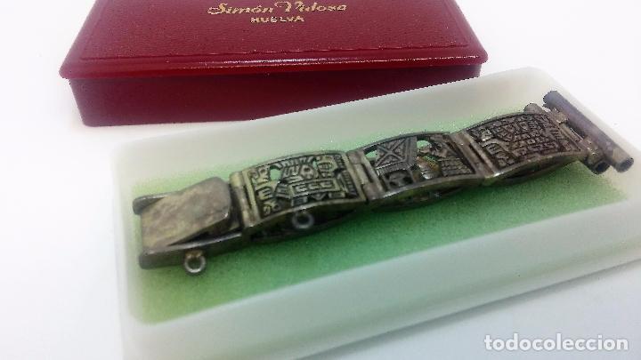 Recambios de relojes: Antigua correa o armis de plata maciza para reloj de pulsera - Foto 5 - 101950387