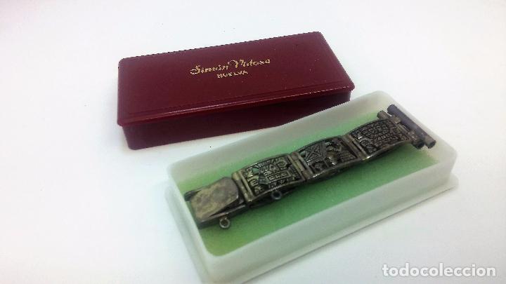 Recambios de relojes: Antigua correa o armis de plata maciza para reloj de pulsera - Foto 6 - 101950387