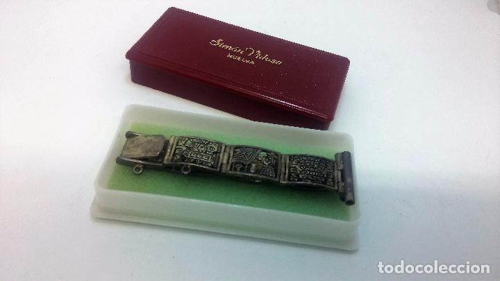 Recambios de relojes: Antigua correa o armis de plata maciza para reloj de pulsera - Foto 7 - 101950387