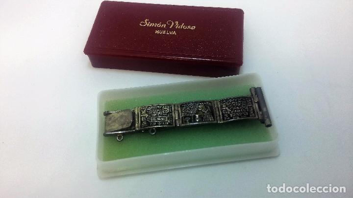 Recambios de relojes: Antigua correa o armis de plata maciza para reloj de pulsera - Foto 8 - 101950387